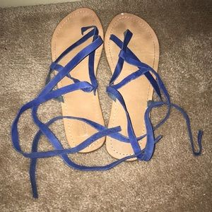 Blue urban outfitters Sandals